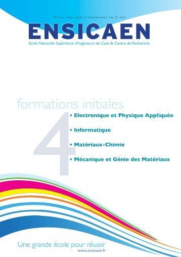 formations initiales - L'Etudiant