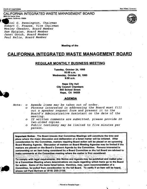 0 - CalRecycle - State of California