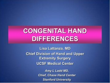 CONGENITAL HAND DIFFERENCES