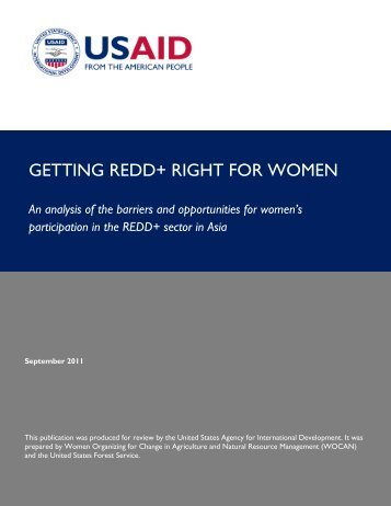 Getting REDD+ Right for Women: An analysis of ... - Gender Climate