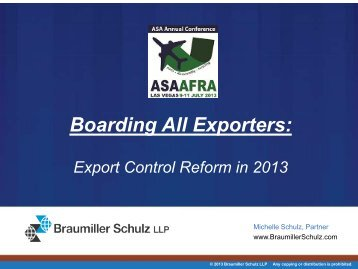 Changes in US Export Rules - Aviation Suppliers Association