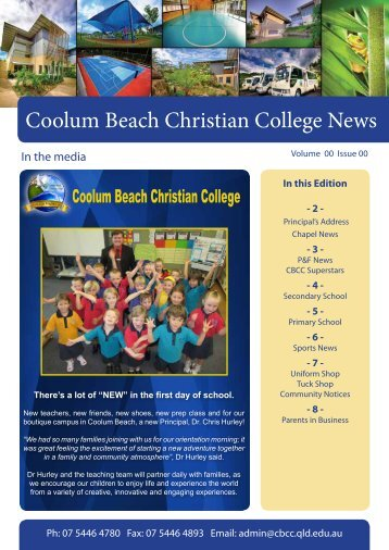 Coolum Beach Christian College News