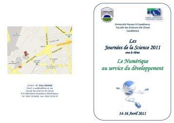 programme - Faculté des Sciences Aïn Chock Casablanca