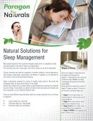 Natural Solutions for Sleep  Management