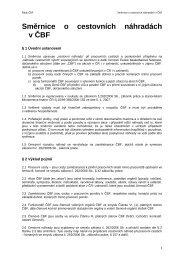 Směrnice - náhrady cestovních výdajů - ČBF