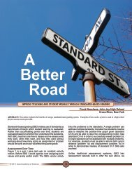 improve teaching and student morale through STANDARDS-BASED ...