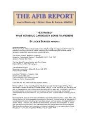the strategy what metabolic cardiology means to ... - The AFIB Report