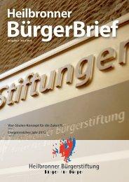 Ausgabe 5 - Heilbronner Bürgerstiftung