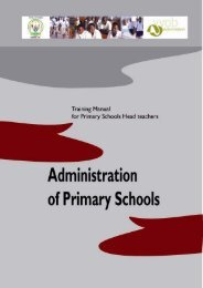 Administration of Primary Schools - Rwanda Education NGO ...