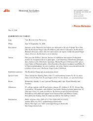 Page 1 May 10, 2006 EXHIBITION FACT SHEET Title: 2ND ...