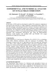 experimental and numerical analysis of syngas mild combustion