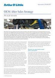 OEM After Sales Strategy - Arthur D. Little