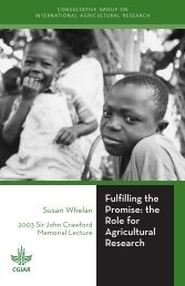Fulfilling the Promise: the Role for Agricultural ... - CGIAR Library