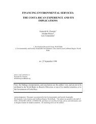 FINANCING ENVIRONMENTAL SERVICES: THE COSTA RICAN ...