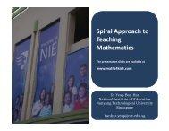 Spiral Approach to Teaching Mathematics - NIE Mathematics ...