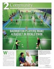 badminton players make a racket in menlo park - Almanac News