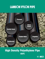 HDPE Brochure (Lamson) - The Water, Sanitation and Hygiene
