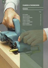 PLANERS & THICKNESSERS Contents - Gibb Tools