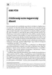 A köztársasági eszme magyarországi állásáról - Politikatörténeti ...