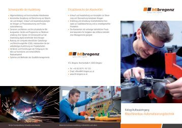 Maschinenbau-Automatisierungstechnik - HTL Bregenz