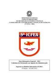 Nota Informativa Especial – 2012 Coletânea de ... - 5ª ICFEx