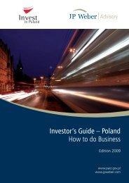 Investor's Guide – Poland How to do Business - JP Weber