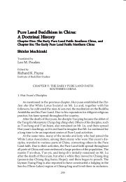 Pure Land Buddhism in China: A Doctrinal History - The Institute of ...