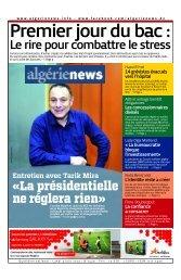 Fr-03-06-2013 - Algérie news quotidien national d'information