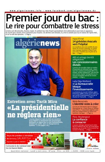 Fr-03-06-2013 - Algérie news quotidien national d'information