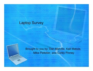 Laptop Survey - Franklin Pierce University