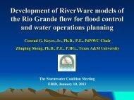 Lower Rio Grande Riverware presentation to the Stormwater ...