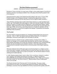 The Hare Krishna movement - ReformedReflections.ca