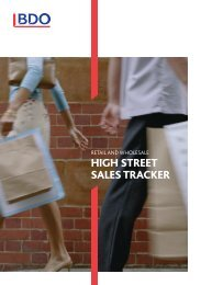 what is the bdo high street sales tracker? - Uk.com