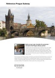 Reference Prague Subway - ESSER by Honeywell