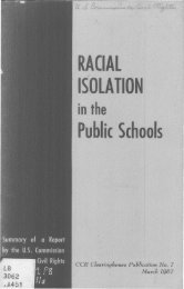 Racial isolation in the public schools - University of Maryland School ...