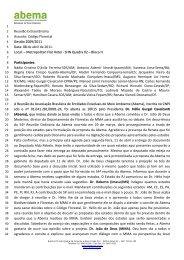 Reunião Extraordinária Assunto: Código Florestal Gestão ... - Abema