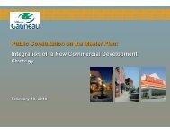 Public Consultation on the Master Plan ... - Ville de Gatineau
