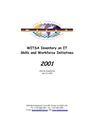 WITSA Inventory on IT Skills and Workforce Initiatives