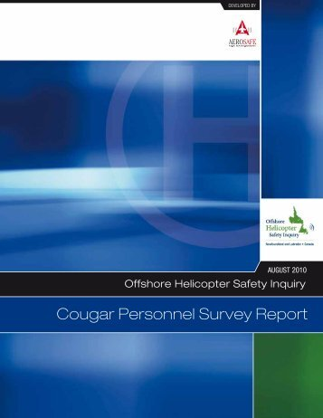 Cougar Personnel Survey Report - Offshore Helicopter Safety Inquiry