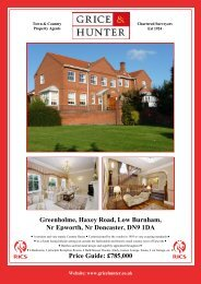 Price Guide: £785,000 Greenholme, Haxey Road ... - Grice & Hunter