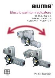 Electric part-turn actuators SG 05.1 - Process Valve Solutions Ltd