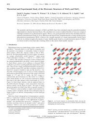 Theoretical and Experimental Study of the Electronic Structures of ...