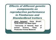 Effects of different genetic components on reproductive performance ...