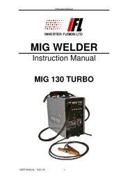 MIG WELDER - Inverter Fusion Ltd