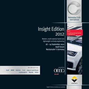 insight Edition 2012 - Automotive Circle International