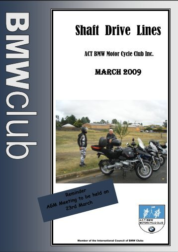 Shaft Drive Lines - ACT BMW Motorcycle Club