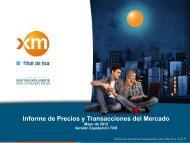 Informe de Precios y Transacciones del Mercado - XM