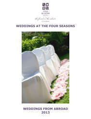weddings at the four seasons weddings from abroad ... - TopHotels.