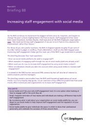 Staff engagement with social media