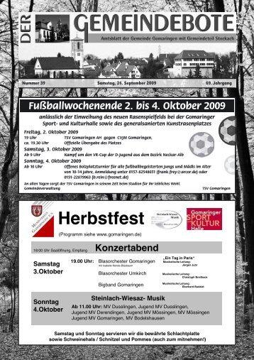 Gomaringen 26.09.09.pdf - RegioMedia Verlag